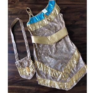 Authentic Pocahontas Costume w/ Matching Bag